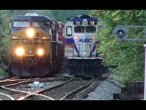 CSX & MARC Trains Meet
