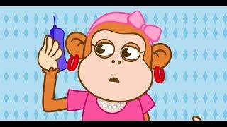 Cinco Macaquinhos (Five littles Monkeys)  - em português - Video infantil