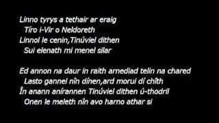 sindarin song:revised eddition  Daeron's farewell to Tinuviel