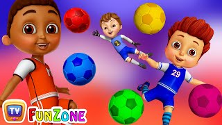 Learn Colors with Football - Kids Play with Colorful Football/Soccer Balls   ChuChu TV Funzone Games