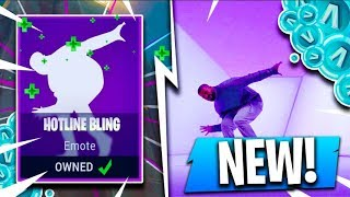 *NEW* HOTLINE BLING EMOTE!! ( Fortnite Hidden Update Concepts )
