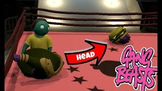 GANG BEASTS ONLINE - His Head Really Fell OFF!!!!!