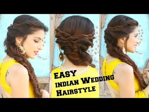Xxx Mp4 Wedding Hairstyle For Medium To Long Hair Fishtail Braid Hairstyle For Indian Wedding Occassions 3gp Sex