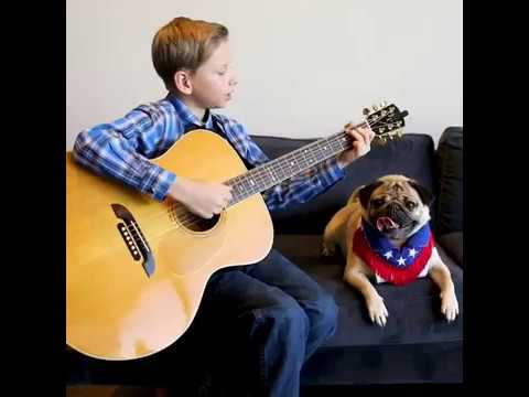 Mason Ramsey with Doug The Pug| The country duo u never knew u needed| Mason Ramsey Famous Song