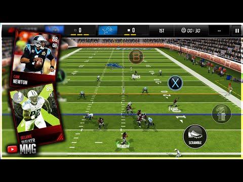 Cam Newton x Delanie Walker Gameplay Madden Mobile 17 Gameplay