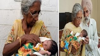 World's Oldest First Time Mother: 70 y.o woman shows newborn son who weighs 4lb 4oz