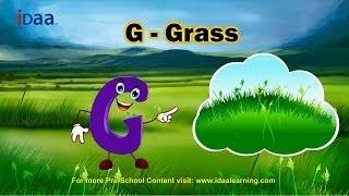 Learn English Alphabet - G (www.iDaaLearning.com)