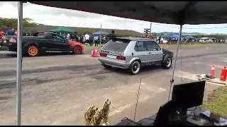 Golf 1 Turbo vs V8 Lumina (no traction)