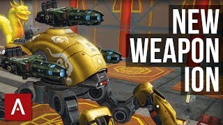 War Robots Test Server 3.7: NEW WEAPON ION   Gameplay with Different Builds