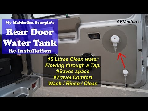 Xxx Mp4 SUV WATER TANK Installation In My Mahindra Scorpio Modified Scorpio 3gp Sex