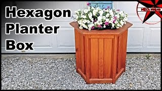 Build a Planter Box   Hexagon & Treated Wood