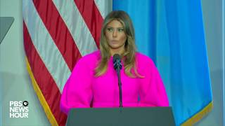 WATCH: First Lady Melania Trump discusses children's issues at UN