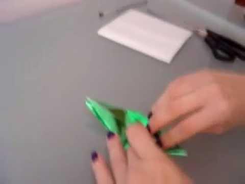 Video Aula como fazer um passarinho de origami tsuru