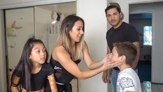 TXUNAMY GETS HER BELLY PIERCED PRANK ON DAD!!   Familia Diamond