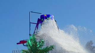 Water park for children . Fun on the sliders. Video 2016 from KIDS TOYS CHANNEL