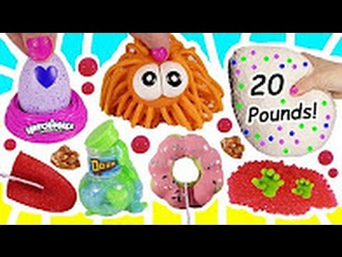 Cutting OPEN Squishy Giant 20 Pound MYSTERY Squish BALL! Hatchimals Colleggtibles! Gross Tongue TOY!