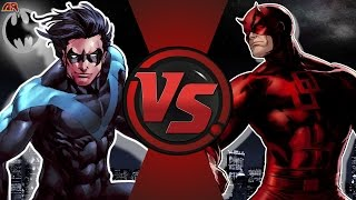 NIGHTWING vs DAREDEVIL! (DC Comics vs Marvel) Cartoon Fight Club Episode 174