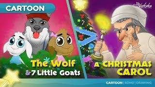 Wolf and The Seven Little Goats stories for kids cartoon animation