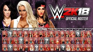 WWE 2K18 Official Womens Roster - All Divas So Far (WWE 2K18 News)