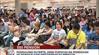 P1,000 SSS pension hike, aprubado na ni Duterte