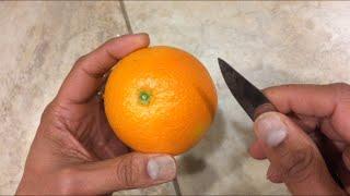 How to peel an orange - the best way