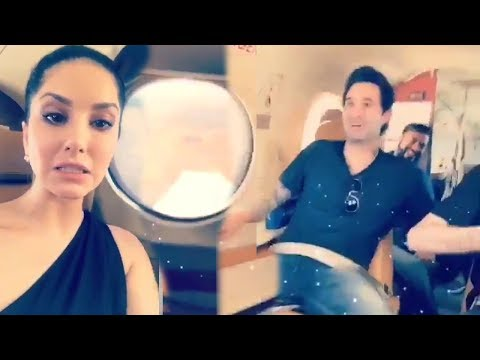 Sunny Leone's Video From Inside Plane Which Almost Crashed