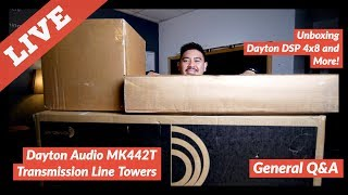 Parts Express Massive Unboxing: MK442T Towers, Dayton Bass Shakers, Dayton DSP 4x8 | Q&A |