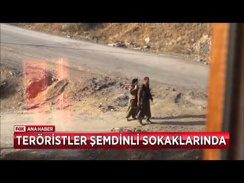 Teröristler Şemdinli sokaklarında