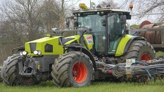 *Special* modified Claas Arion 550 | Slurry injection | Roelama drag hose