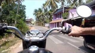 Royal Enfield ing around Varkala India