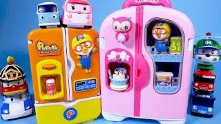 뽀로로 Pororo 콩순이 냉장고 타요 로보카폴리 장난감 놀이 Pororo Refrigerator toy Tayo Robocar Poli mini cars