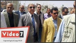 وزير الشباب والرياضة ومحافظ الإسماعيلية يتفقدان مشروع منشآت النادي الإسماعيلي