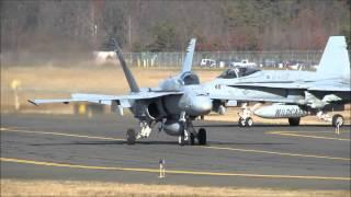"F/A-18C Hornets | VFA-131 ""Wildcats"" Visit Westfield-Barnes Regional Airport [KBAF]"