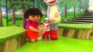 Isla with Dora & Boots