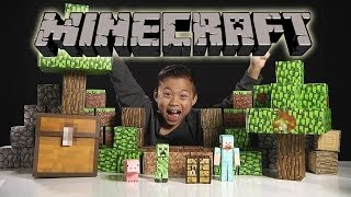 MINECRAFT Papercraft Overworld Deluxe Set - Unboxing & Review