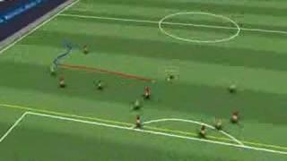 3D video goal. Brazil vs. Croatia. Football World Cup 2006