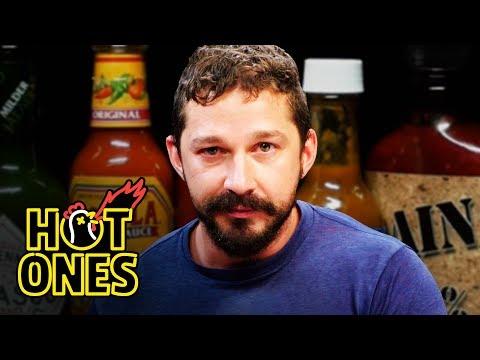 Shia LaBeouf Sheds a Tear While Eating Spicy Wings Hot Ones