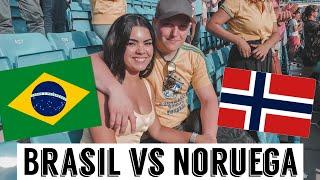 BRASIL vs NORUEGA 🇳🇴 🇧🇷⚽️♥️  VLOG EM OSLO   VIDA NA NORUEGA   Nicole Trindade