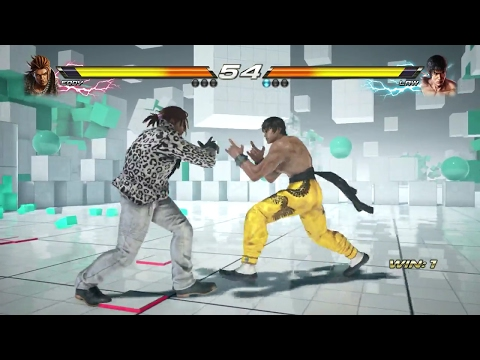 TEKKEN 7 (PS4) Eddy Vs Law Gameplay | GEOMETRIC PLANE Stage (1080p 60fps) No Commentary