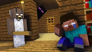 Monster School : HOW TO FREE HEROBRINE FROM GRANNY HORROR CHALLENGE - Minecraft Animation