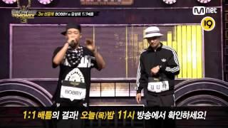 Mnet[SHOW ME THE MONEY 3] 3話 先行公開 : BOBBY vs キム・ソンヒの1:1バトル フルver