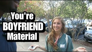 HOT COLLEGE GIRLS RATE MY PICKUP LINES