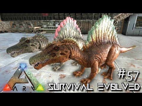 ARK: Survival Evolved - BABY SPINOSAURUS BREEDING SPINOS !!! [Ep 57] (Server Gameplay)
