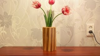 How To Make a Wooden Vase