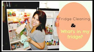 FRIDGE CLEANING!//WHAT