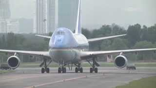 OBAMA ARRIVES IN MALAYSIA