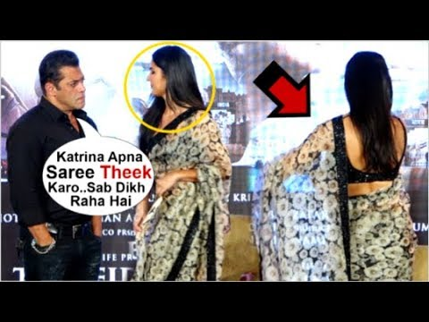 Xxx Mp4 Salman Khan Tells GIRLFRIEND Katrina Kaif To ADJUST Her Saree In Front Of Media At Zinda Song Launch 3gp Sex
