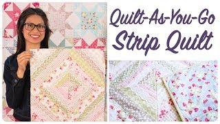 Quilt-As-You-Go Made Modern Book - Strip Quilt