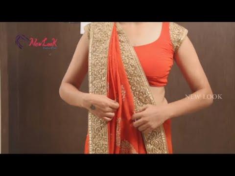 Xxx Mp4 How To Wear Gujarati Style Saree Step By Step Perfectly Lehenga Style Newlook 3gp Sex