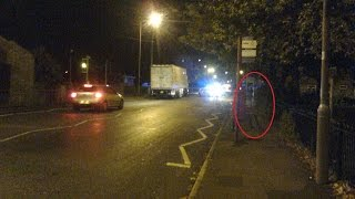 Real ghost / spirit seen next to the fatal car accident in which she died. - MUST WATCH AMAZING !!!